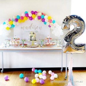 Balloon Arch and Mega Number Balloon