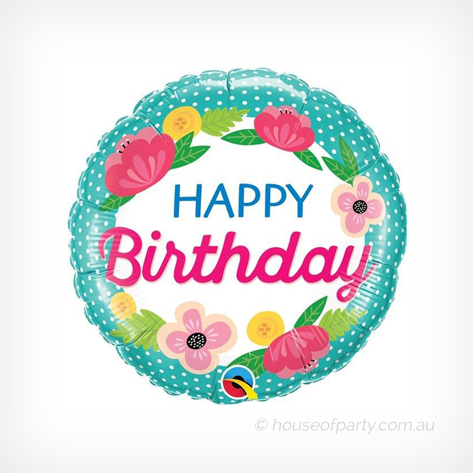 Flowers happy birthday balloons topsimages foil balloon happy birthday flowers house of party jpg 960x960 flowers happy birthday balloons izmirmasajfo