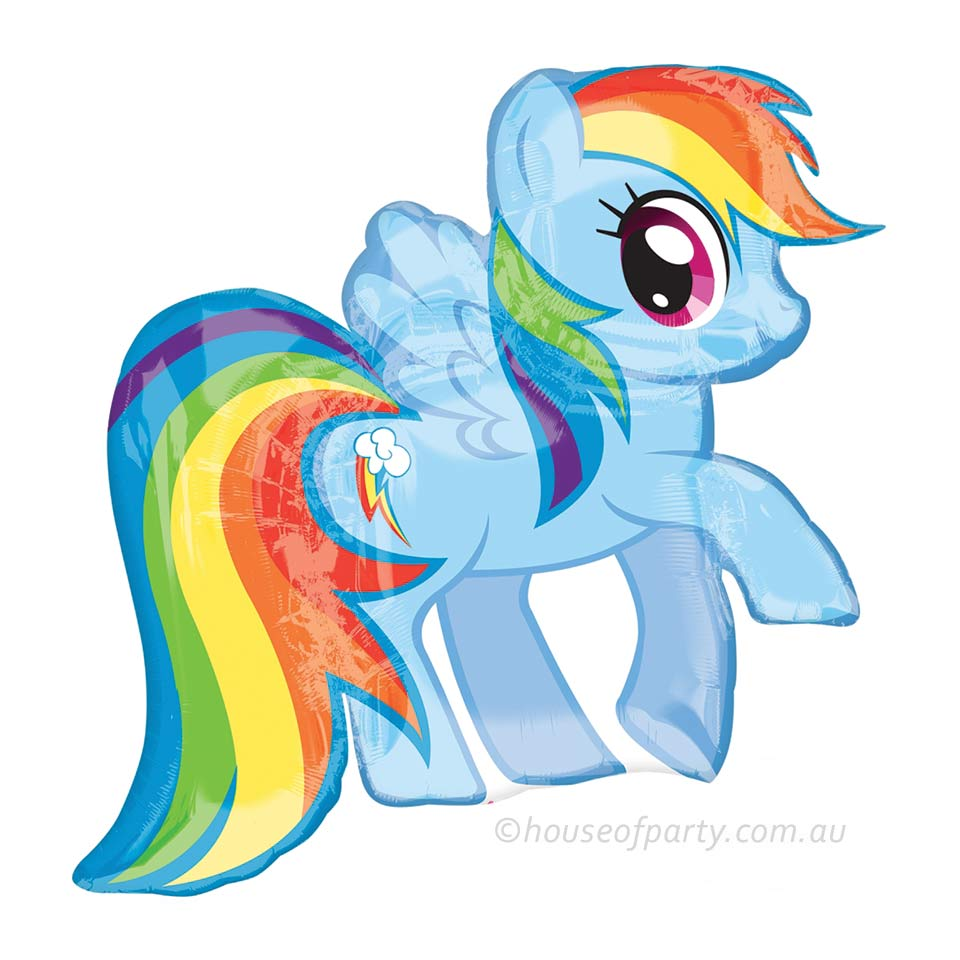 Foil Balloon Supershape My Little Pony Rainbow Dash House Of Party