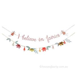 I believe in fairies garland