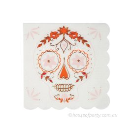 Sugar Skull Cocktail Napkins by Meri Meri