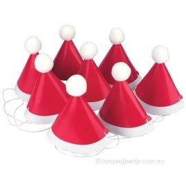 Cardboard santa party hat with pom pom