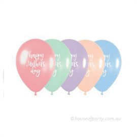 Happy mthers Day Pastel Pearl Latex 30cm balloons