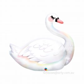 Large Swan SuperShape foil balloon