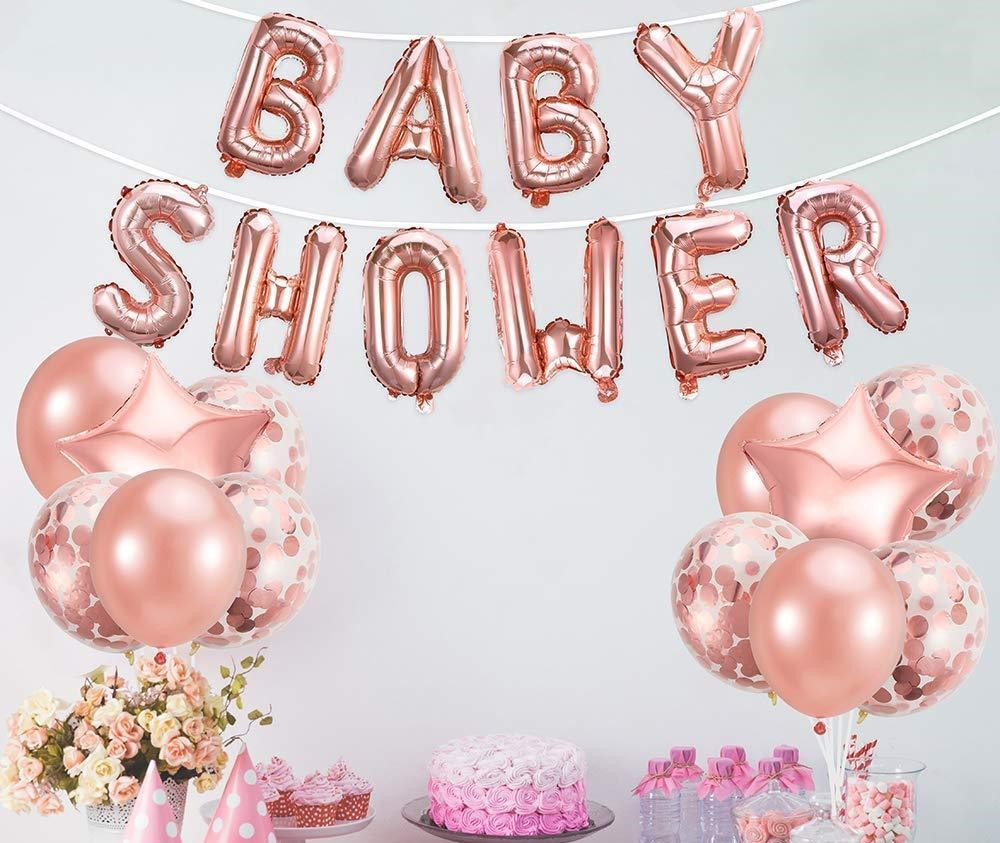 Word Boy Girl One Foil Balloo Baby Shower Birthday Celebration Party Decor Prop
